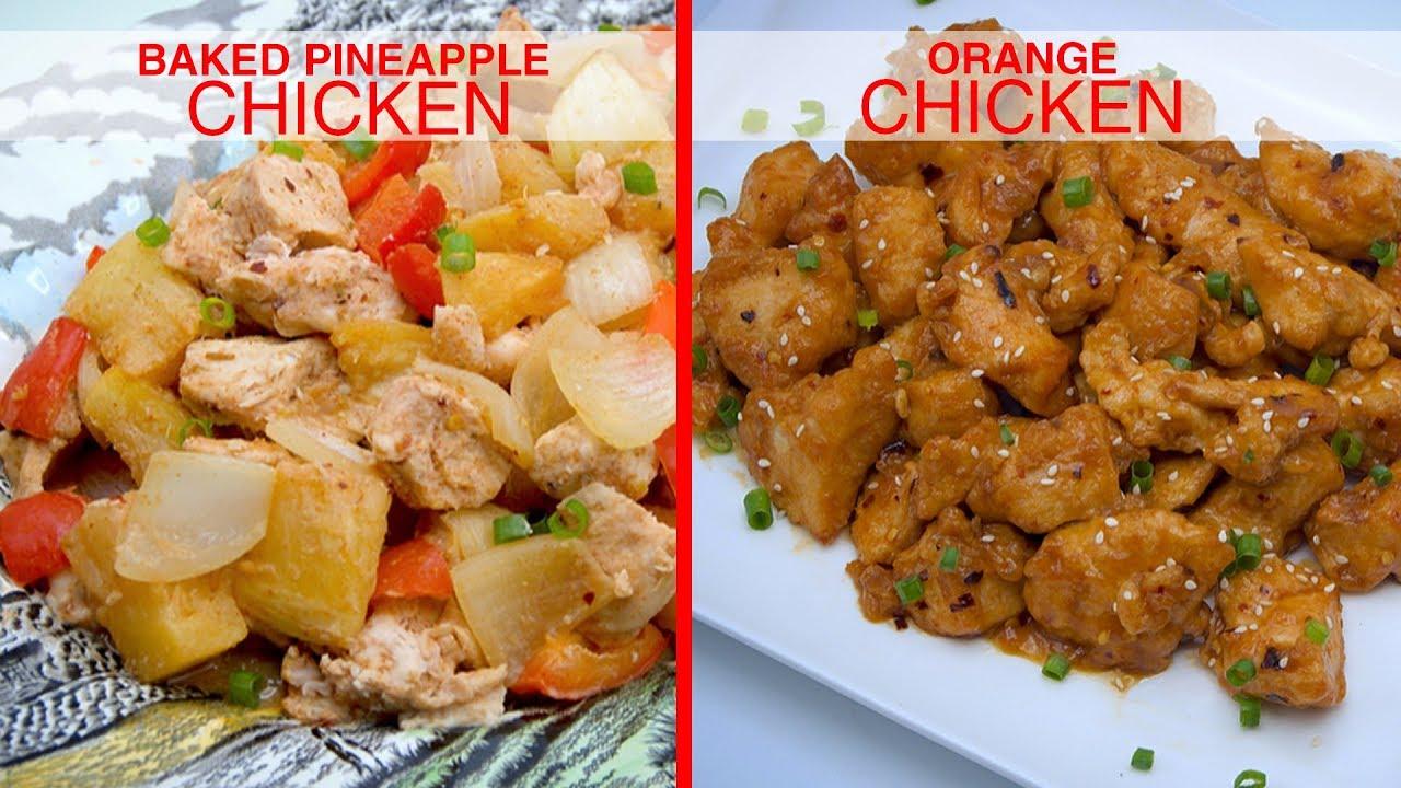 How To Make Two Easy Chicken Recipes Orange Chicken Pineapple Chicken Zeelicious Foods