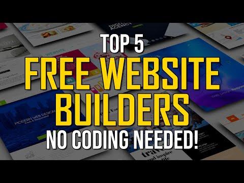 Top 5 Best Free Website Builders (2021) - NO CODING REQUIRED!