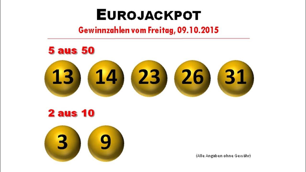 Eurojackpot Ziehung Zahlen