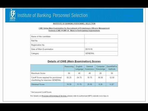 ibps-po-cutoff-and-score-card-2018-2019