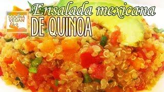 Ensalada mexicana de quinoa - Cocina Vegan Fácil