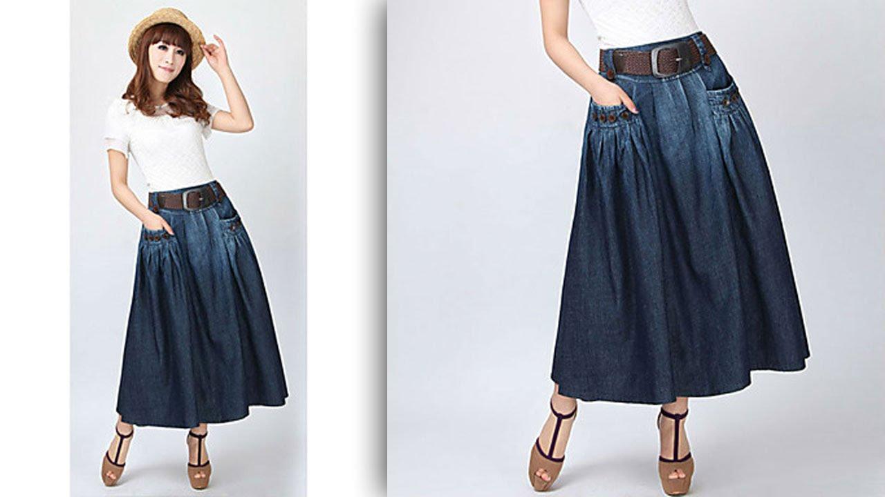 Длинная юбка с карманами с чем носить