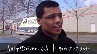 Passed my G driving test on my First Try Mississauga Adept Drivers
