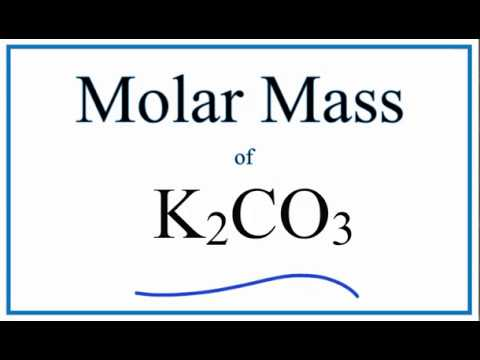 Molar Mass Molecular Weight Of K2co3 Potassium Carbonate Youtube