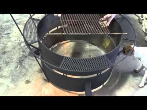 Fire Pit and Firewood Racks