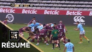 TOP 14 - Résumé Bordeaux-Bègles-Perpignan: 31-22 - J21- Saison 2018/2019