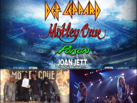 'The Stadium Tour' Motley Crue, Def Leppard, Poison & Joan Jett tour update released