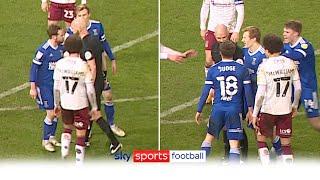 Referee clashes with Ipswich midfielder Alan Judge