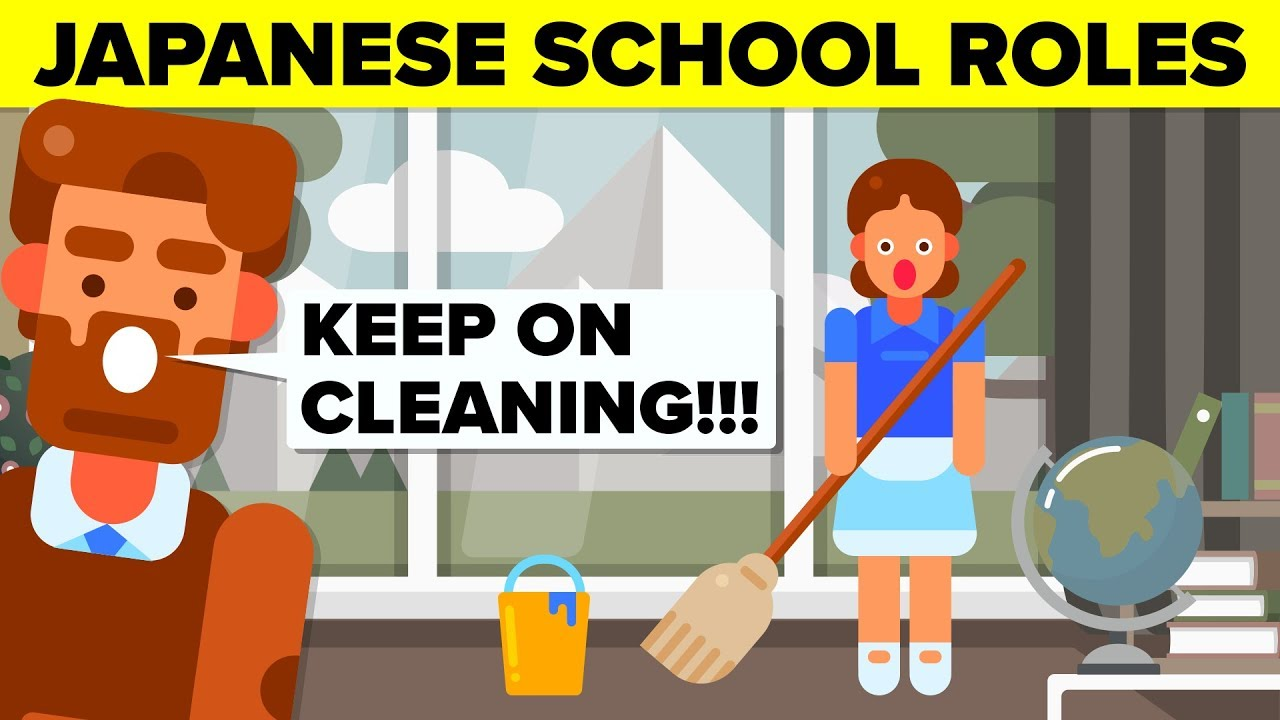 Why Do Students In Japan Clean Classrooms | Insane Japanese School Rules