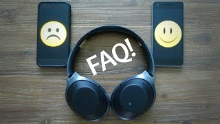 FAQ Sony WH-1000XM2 and MDR-1000X headphones | Ask DHRME #1