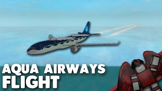 Aqua Airways Flight! | Roblox