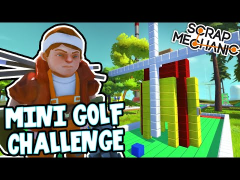 Scrap Mechanic! - MINI GOLF CHALLENGE! Vs AshDubh - [#31] | Gameplay |