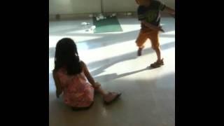 Japanese kids fighting At Children's castle