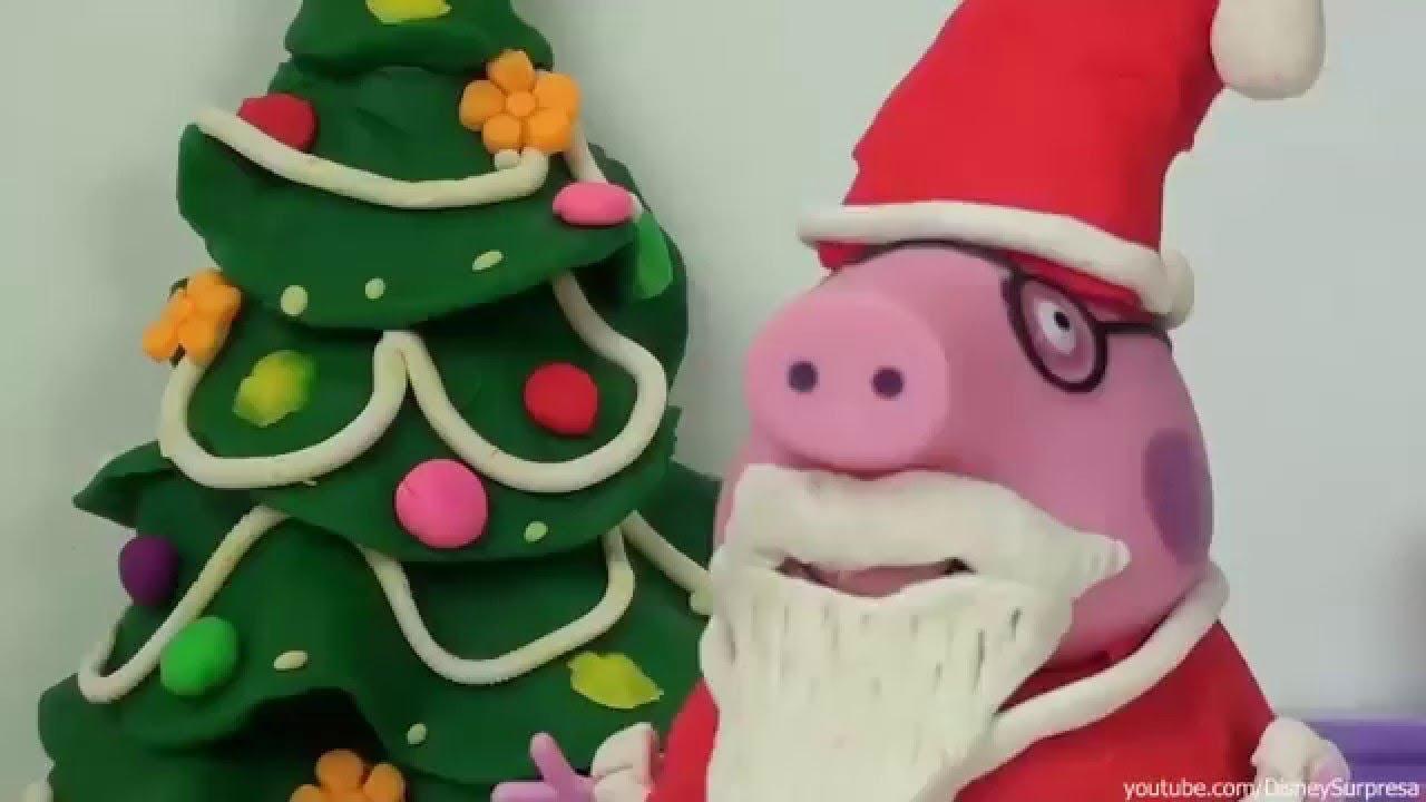 Pig george e peppa pig ganhando presentes de natal do - Peppa cochon noel ...