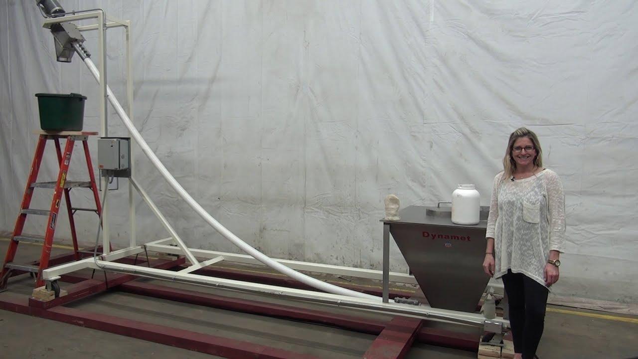 Portable Dynamet Flexible Screw Conveyor