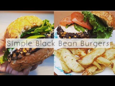 Black bean burgers #veganfood #howtocookthat