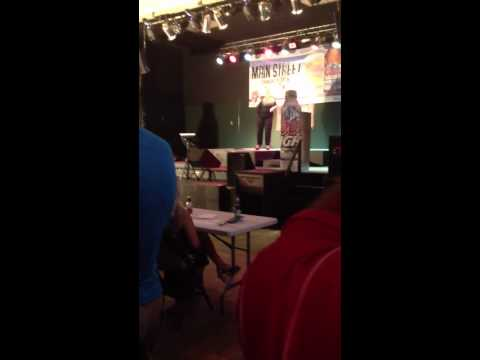 "Kristen singing ""Hero"" in the Gin Mill Karaoke finals compe"