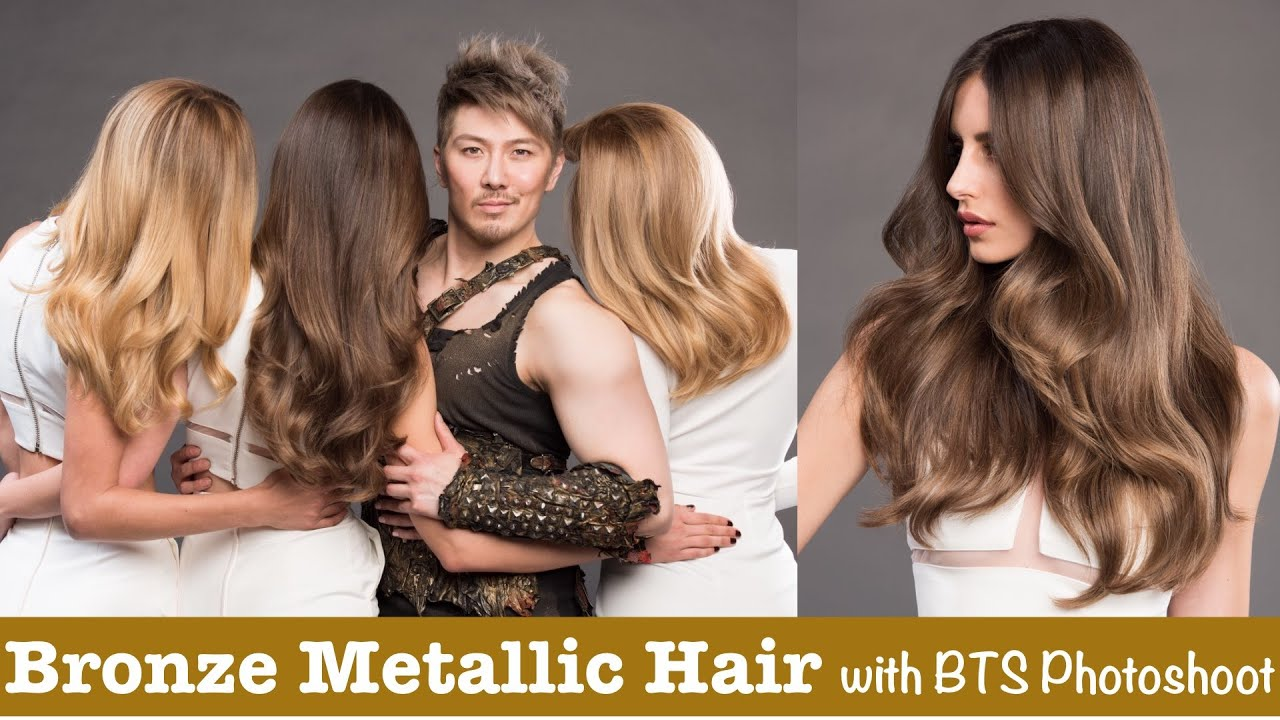 Bronze Metallic Hair with BTS Photoshoot