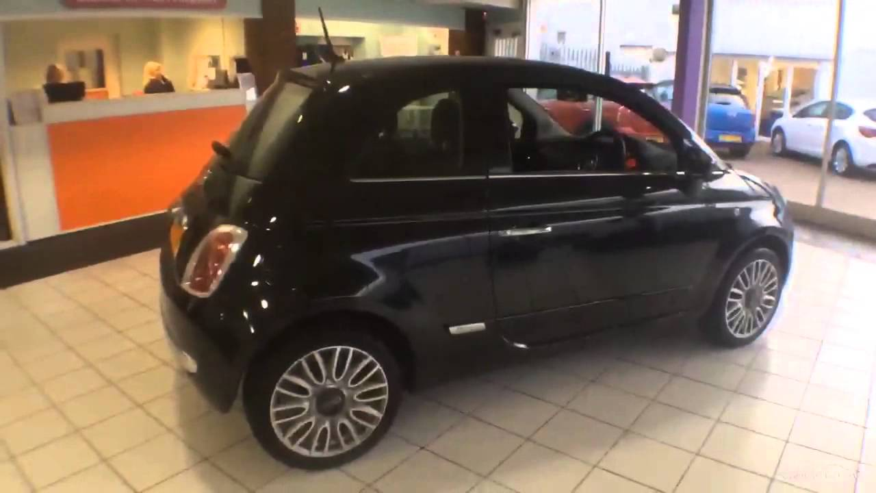 fiat 500 lounge black 2015 youtube. Black Bedroom Furniture Sets. Home Design Ideas