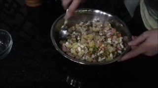 """Очень вкусный салат с горошком! /Salad """"Olivier""""/ Salata """"Olivier""""/"""