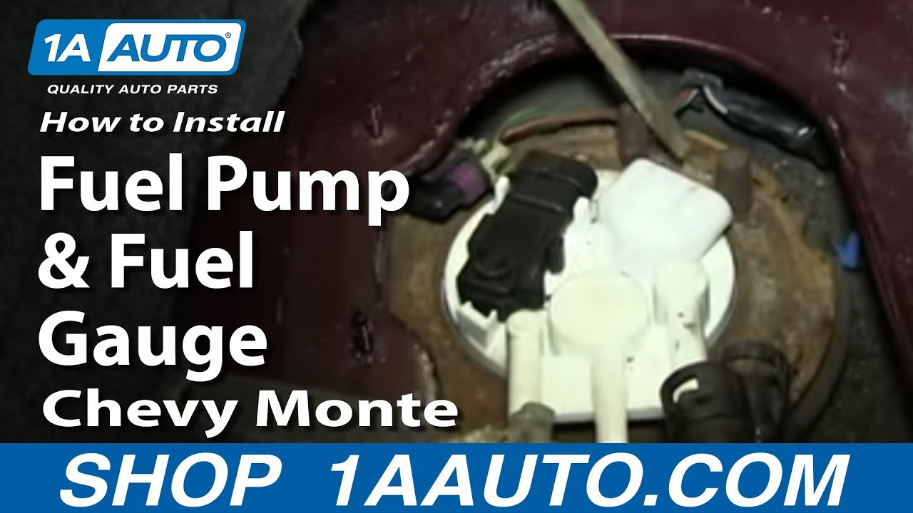 How To Install Replace Fuel Pump And Gauge Sending Unit 2000 05 2002 Cavalier Fuse Box Diagram Chevy Monte Carlo