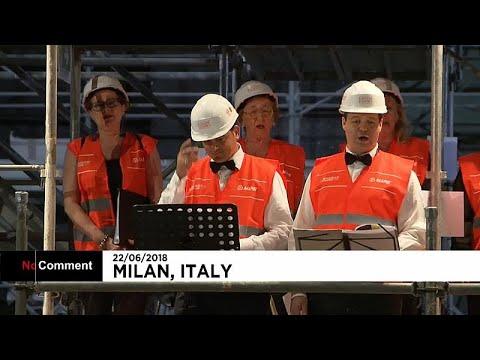 ميلان تياترو ليريكو يفتتح حفلاً موسيقياً على سقالاته في موقع البناء الجاري…  - نشر قبل 6 ساعة