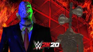 SLENDERMAN vs SIREN HEAD | WWE 2K20 Gameplay