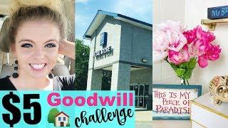 $5 GOODWILL CHALLENGE   BEACH HOUSE DECOR SUMMER 2018