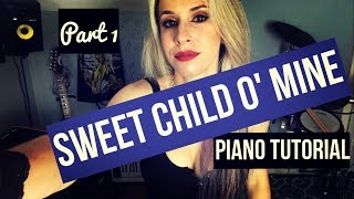 How to play Sweet Child O' Mine on Piano😎 🎩 - The right way🤘🏻! Slow Easy Piano 🎹 Tutorial INTRO