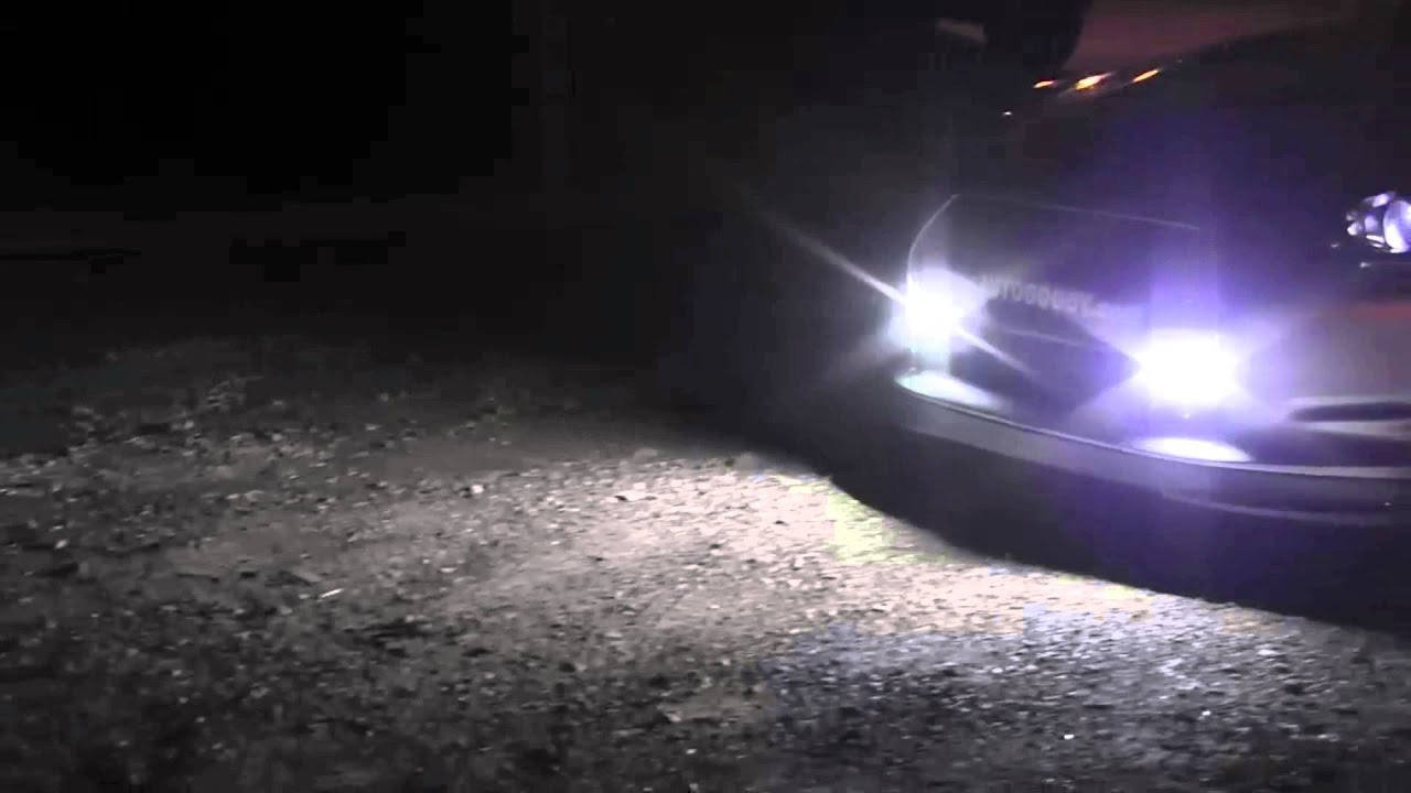 Super Bright COB White LED Lights for DRL Fog Driving Lamp - YouTube
