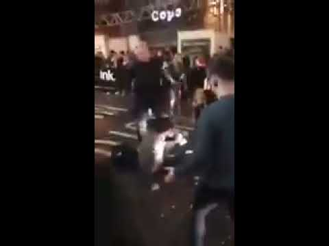 British Bouncer Gets Into a 3 on 1 Fight And Knocks Everyone Out