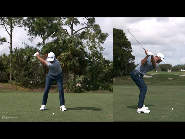 Dustin Johnson Mid-Iron Swing in SUPER Slow Motion | TaylorMade Golf