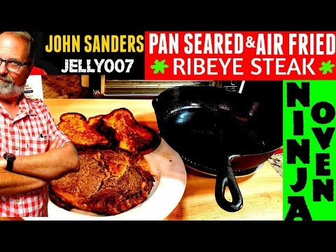 pan-seared-|-air-fried-steak-|-cast-iron-skillet-|-ninja-air-fry-toaster-oven-or-breville-bsoa