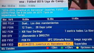 Guía de DirecTV Venezuela - 19 de mayo de 2020, 10:03am