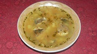 Суп с рыбными консервами и рисом. Рецепт без зажарки.