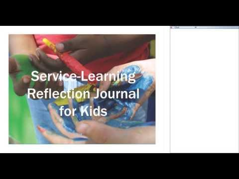 Service-Learning Reflection Journal for Kids