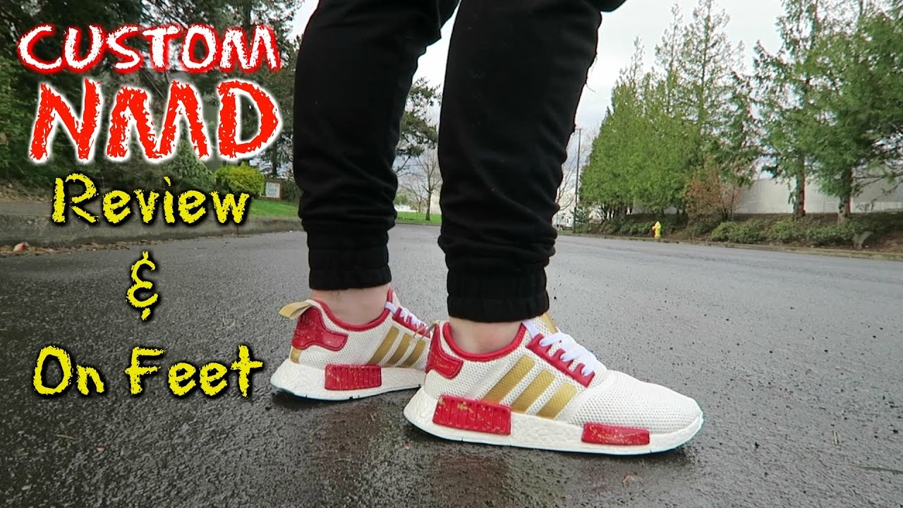 12c5bee5ebaf Double D s Custom Adidas NMD Review and On Feet! - YouTube