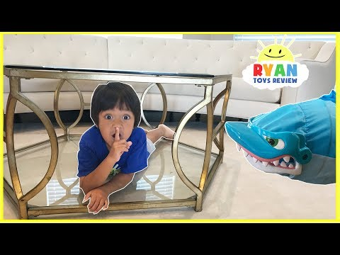 PET SHARK Pretend Play Chase and Hide and Seek! Family Fun Kids Playtime Compilation Video