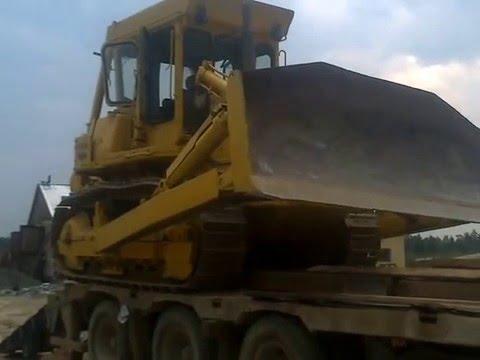 В Бодайбо, перевозка бульдозера из Таксимо