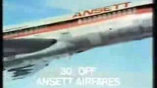 An old Ansett 1970's ad, featuring the 727 in 1970's livery.