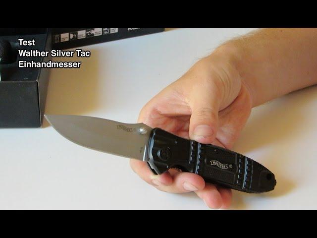Test Walther Silver Tac Einhandmesser | Walther Einhandmesser | Einhandmesser Test