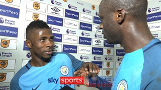 Kelechi Iheanacho tries to take Yaya Toure's MOTM award