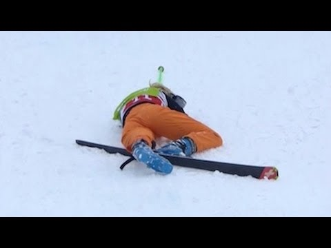 Weilharter crashes hard in Women's Ski Cross at Sochi ... Sabrina Weilharter