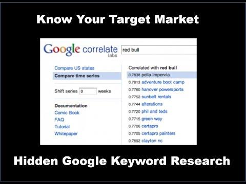 Google correlate  Keyword research exposed