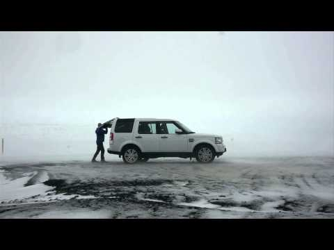 Land Rover in action with polar explorer Ben Saunders in Iceland