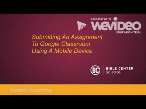 Submitting An Assignment Using A Mobile Device