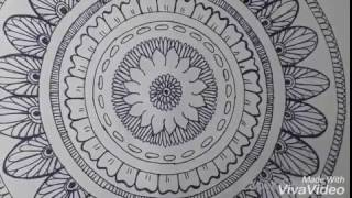 How To Draw A Mandala/Zendala For Beginners | Zentangle + Mandala = Zendala