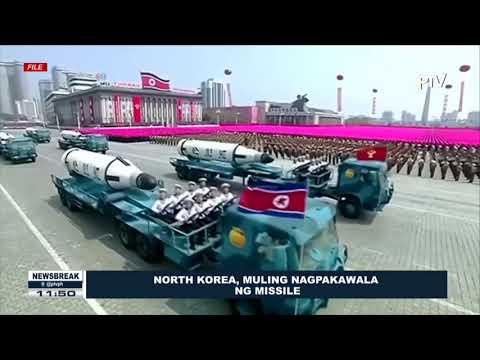 NEWS BREAK: North Korea, muling nagpakawala ng missile