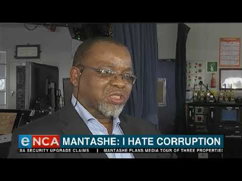 Gwede Mantashe, says those who think he's corrupt will be left disappointed