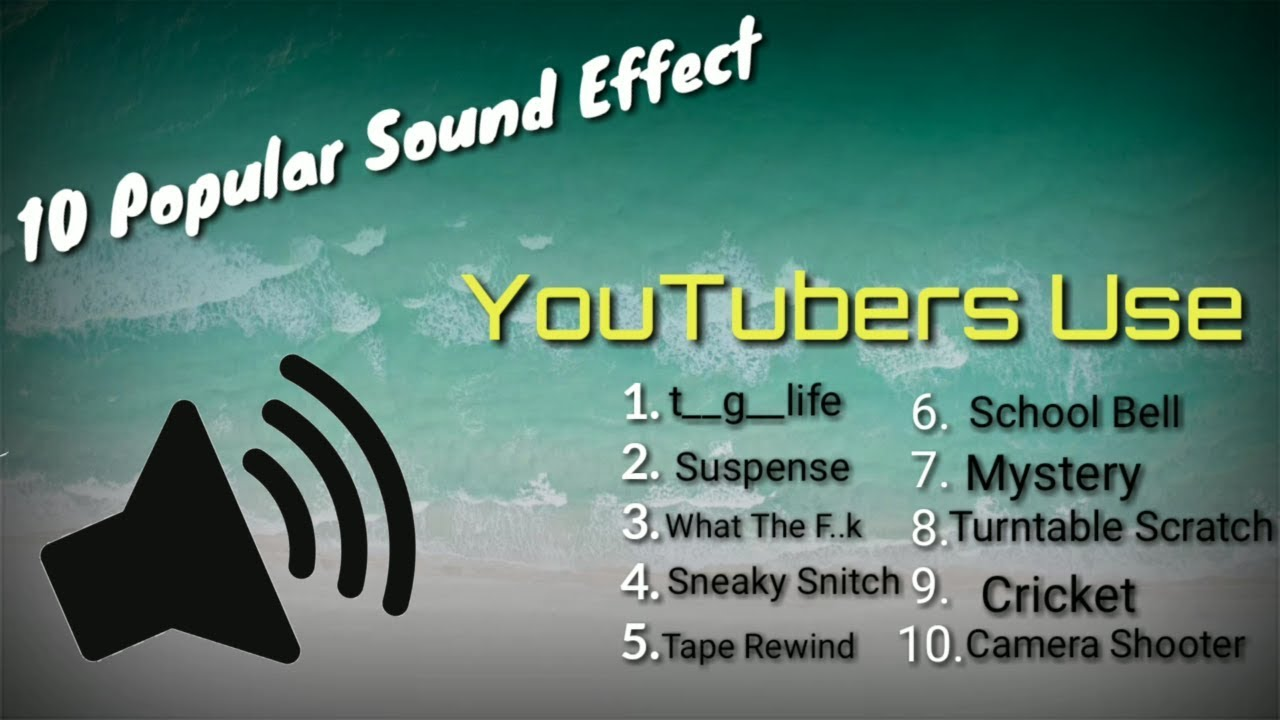 10 Popular Sound Effects MP3 | YouTubers Use ( ↓ FREE DOWNLOAD LINK ↓)🔈🔉🔊